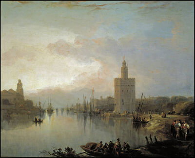 The Guadalquivir and the Golden Tower by David Roberts