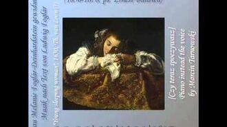 W. Tarnowski - Ob du nun ruhst - piano instead the voice