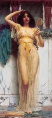 Godward-The Mirror-1899