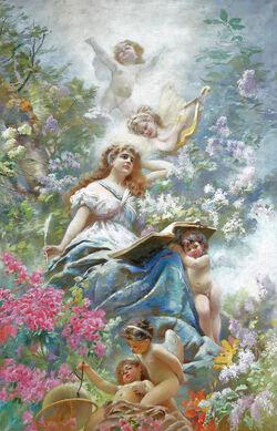 The Muse of Poesie by Konstantin Makovsky