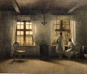 Peter Vilhelm Ilsted (Danish artist, 1861-1933) Girls at Window