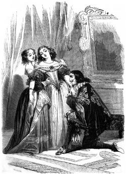 Dumas - Les Trois Mousquetaires - 1849 - page 114 - b&w