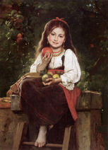 The Apple Picker by Léon Bazile Perrault
