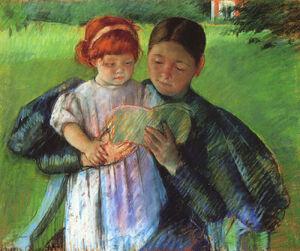 Cassatt Mary Nurse Reading to a Little Girl 1895