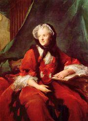Marie Leszczyńska, reine de France, lisant de Bible by Jean Marc Nattier (1748)