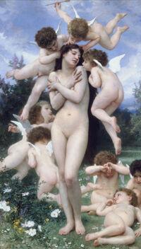 William-Adolphe Bouguereau (1825-1905) - Return of Spring (1886)
