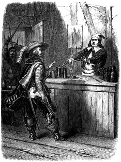 Dumas - Les Trois Mousquetaires - 1849 - page 176 - b&w