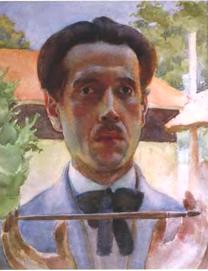 Marian Ruzamski - Autoportret, Tarnobrzeg 1926