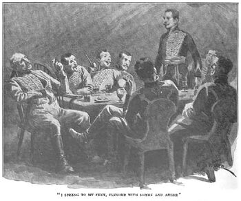 'How the Brigadier Joined the Hussars of Conflans' by William Barnes Wollen 1