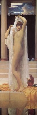 1890s Frederick Leighton - Bath of Psyche