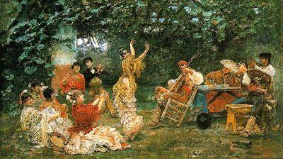 Baile andaluz 1893 José Villegas Cordero
