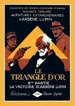 Le Triangle d'Or by Maurice Leblanc (2nd part book cover)