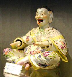 Laughing Buddha (nodder, Meissen Porcelain)