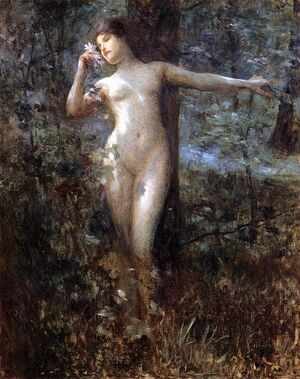 Julius Leblanc Stewart Nude in the Forest