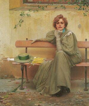 Vittorio Matteo Corcos - Dreams - 1896