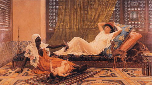 Frederick Goodall - A New Light in the Harem