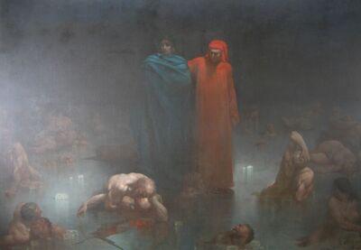 Gustave Doré- Dante et Vergil dans le neuvième cercle de l'enfer