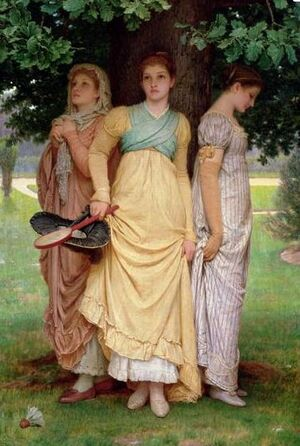 A Summer Shower, by Charles Edward Perugini