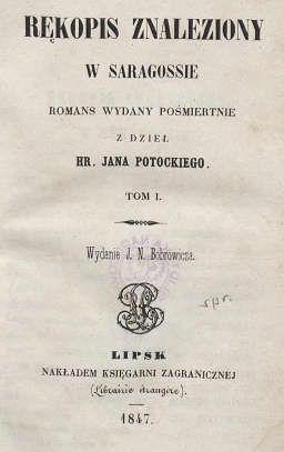 Rękopis Znaleziony W Saragossiecałość Ogród Petenery Fandom