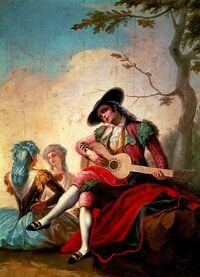 El majo de la guitarra