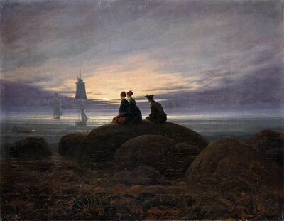 Caspar David Friedrich - Moonrise by the Sea - WGA08266