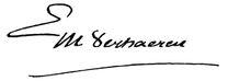 Emile Verhaeren's signature