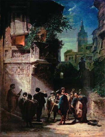Spanish Serenade by Carl Spitzweg