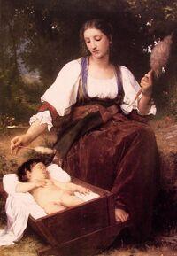 William-Adolphe Bouguereau (1825-1905) - Lullaby (1875)