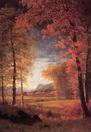 Bierstadt Albert Autumn in America Oneida County New York