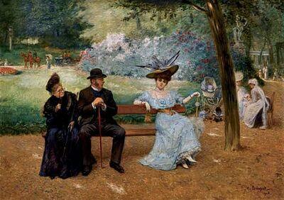 Henri Brispot - Les belles au parc Monceau