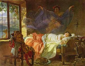 Briullov, Karl - A Dream of a Girl Before a Sunrise