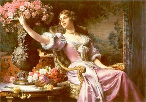 Władysław Czachórski - Dama w liliowej sukni