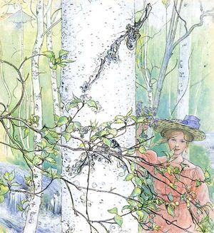 Våren (1907) av Carl Larsson