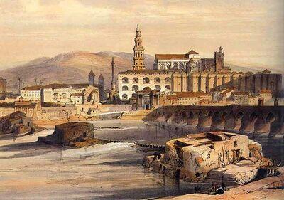 The Guadalquivir in Granada by David Roberts