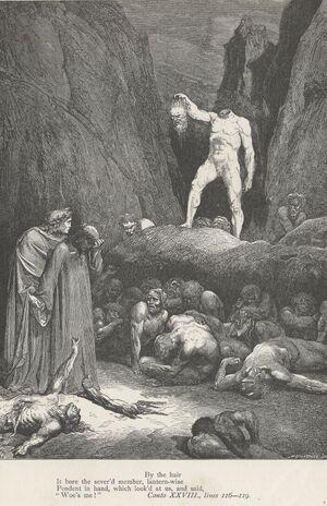 Inferno Canto 28 verses 116-119