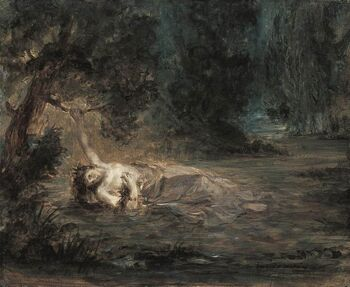 Eugène Delacroix - The Death of Ophelia - WGA6197