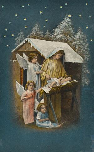 Julekort, ca 1912