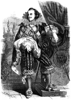Dumas - Les Trois Mousquetaires - 1849 - page 185 - b&w
