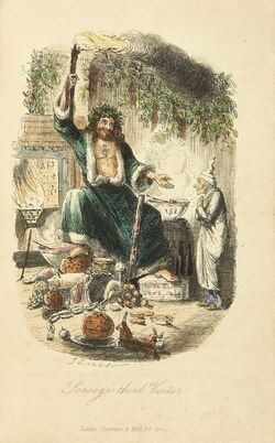 Scrooges third visitor-John Leech,1843