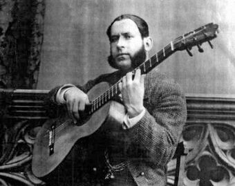 Silverio Franconetti with guitar