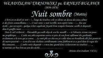 W. Tarnowski - Nuit sombre (Noc ciemna)