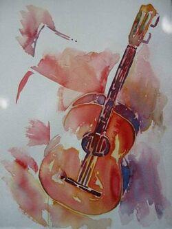 Aquarelle guitard