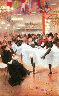 Jean Béraud Le Cafe de Paris