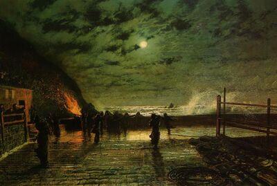 Grimshaw, John Atkinson - In Peril - 1879