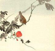 Tree sparrow by Seik (1837-1913)