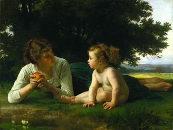 William-Adolphe Bouguereau (1825-1905) - Temptation (1880)