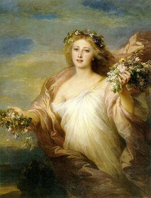 The Spring by Franz Xaver Winterhalter