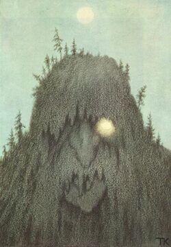 Theodor Kittelsen - Skogtroll, 1906 (Forest Troll)