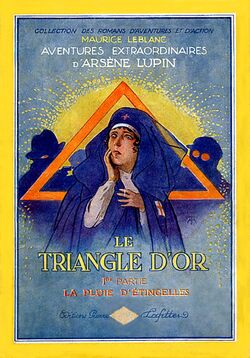 Le Triangle d'Or by Maurice Leblanc (1st part book cover)