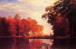 Bierstadt Albert Autumn Woods